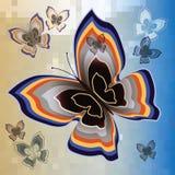 Decoratieve kleurrijke vlinder Royalty-vrije Stock Foto