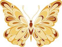 Decoratieve kleurrijke vlinderillustratie Stock Foto's