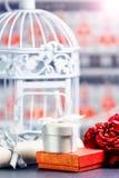 Decoratieve kooi en giftdozen Stock Afbeelding