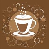 Decoratieve kop van koffie Stock Afbeelding