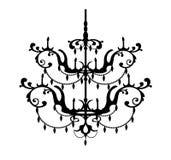 Decoratieve Kroonluchter Royalty-vrije Stock Afbeelding