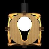 Decoratieve lamp die een gloeilamp symboliseert 3D Illustratie Stock Foto's