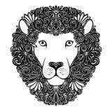 Decoratieve Leeuw met Gevormde Manen stock illustratie