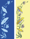 Decoratieve lelies vector illustratie