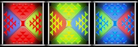 Decoratieve lichte abstracte achtergronden 3D Illustratie Royalty-vrije Stock Fotografie