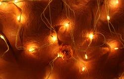 Decoratieve lichten voor festivalachtergrond royalty-vrije stock afbeelding