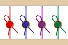 Decoratieve linten royalty-vrije illustratie