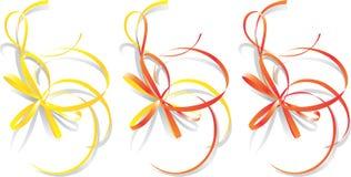 Decoratieve linten, vector   Royalty-vrije Stock Foto