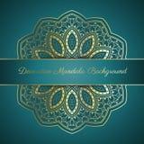 Decoratieve mandalaachtergrond Stock Afbeeldingen