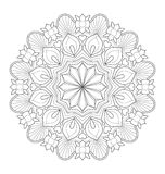 Decoratieve mandalaillustratie Royalty-vrije Stock Afbeeldingen