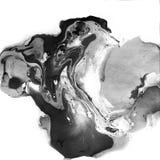 Decoratieve Marmeren Zwart-witte Textuur Het abstracte schilderen In achtergrond voor druk en websites ongebruikelijk royalty-vrije stock afbeelding