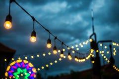 Decoratieve mooie uitstekende lampbollen Stock Afbeelding