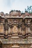 Decoratieve muur van ruïneus deel van Kallalagar-tempel Stock Afbeeldingen