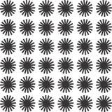 Decoratieve Naadloze Bloemen Geometrische Zwarte & Witte Patroonachtergrond Stock Afbeelding
