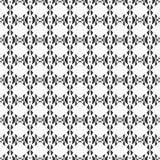 Decoratieve Naadloze Bloemen Geometrische Zwarte & Witte Patroonachtergrond Royalty-vrije Stock Foto