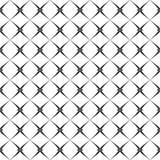 Decoratieve Naadloze Bloemen Geometrische Zwarte & Witte Patroonachtergrond Stock Afbeeldingen