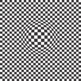 Decoratieve Naadloze Bloemen Geometrische Zwarte & Witte Patroonachtergrond Royalty-vrije Stock Foto's