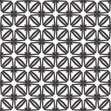 Decoratieve Naadloze Bloemen Geometrische Zwarte & Witte Patroonachtergrond Royalty-vrije Stock Afbeelding