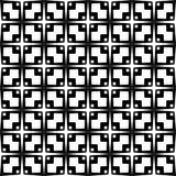 Decoratieve Naadloze Bloemen Geometrische Zwarte & Witte Patroonachtergrond Stock Fotografie