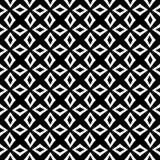Decoratieve Naadloze Bloemen Geometrische Zwarte & Witte Patroonachtergrond Bloemen, meetkunde royalty-vrije illustratie