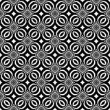 Decoratieve Naadloze Bloemen Geometrische Zwarte & Witte Patroonachtergrond Bloemen, meetkunde stock illustratie
