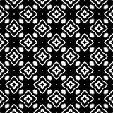 Decoratieve Naadloze Bloemen Geometrische Zwarte & Witte Patroonachtergrond Modieus, grafisch royalty-vrije illustratie