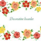 Decoratieve naadloze bloemenpensionair met leuke bloemen Vector Illustratie