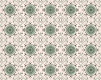Decoratieve Naadloze Tegels in Groene Tonen stock illustratie