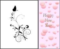 Decoratieve nieuwe jaarkaart Stock Fotografie