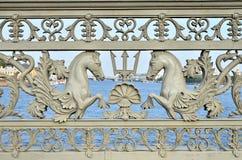 Decoratieve omheining royalty-vrije stock afbeelding