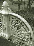Decoratieve Omheining in Sepia Royalty-vrije Stock Afbeeldingen