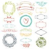 Decoratieve ontwerpelementen Stock Foto's