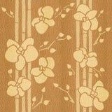 Decoratieve Orchidee - Binnenlands behang - naadloze achtergrond vector illustratie