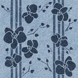 Decoratieve Orchideebloem - Binnenlands behang stock illustratie