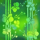 Decoratieve Orchideebloem - Binnenlands behang royalty-vrije illustratie
