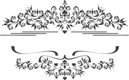 Decoratieve ornamentgrens, frame. Grafische art.