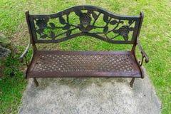 Decoratieve parkbank Royalty-vrije Stock Afbeeldingen