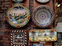 Decoratieve platen in Toscanië Royalty-vrije Stock Afbeeldingen