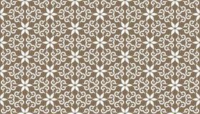 Decoratieve punten en bloemen geometrisch herhaald patroonontwerp stock illustratie