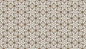 Decoratieve punten en bloemen geometrisch herhaald patroonontwerp royalty-vrije illustratie