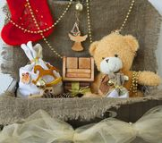 Decoratieve punten voor de wintervakantie Royalty-vrije Stock Afbeelding