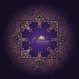 Decoratieve Ramadanachtergrond met confettien Stock Foto's