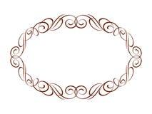 Decoratieve retro frames Vector illustratie bruin Royalty-vrije Stock Fotografie