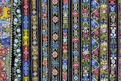 Decoratieve riemen kleurrijke achtergrond stock foto