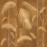 Decoratieve rietbladeren - Binnenlands behang vector illustratie