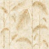 Decoratieve rietbladeren - Binnenlands behang royalty-vrije illustratie