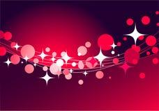 Decoratieve rode achtergrond met sterren Royalty-vrije Stock Foto