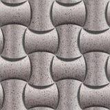 Decoratieve rond gemaakte die blokken voor naadloze achtergrond - decoratiemateriaal worden gestapeld - korrelige oppervlakte van stock illustratie
