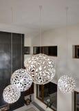 Decoratieve ronde lampen Stock Afbeeldingen