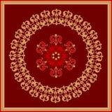 Decoratieve rozet stock illustratie